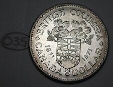Canada 1971 Nickel Dollar Elizabeth II Canadian BC Centennial $1 Lot #O35