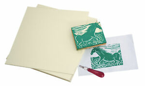 Sax Easy-To-Cut Unmounted Linoleum, 6 x 9 Inches, Pack of 12