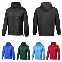 Men's Waterproof Rain Jacket Hooded Raincoat Lightweight Outdoor Travel Camping