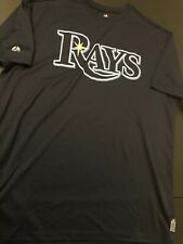 Majestic Cool Base Mlb Tampa Bay rays Baseball Shirt Men Xl New Navy