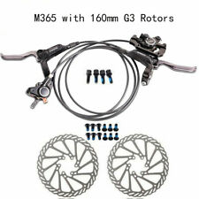 Shimano Black BR-BL-M365 Hydraulic Disc Bike Brake Set Front and Rear G3 Rotors
