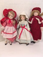 "Lot of 3 Dolls 7"" Unknown Maker"