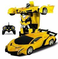 Rc Transformer 2 in 1 RC Car Driving Sports Cars drive Transformation Robots Mod