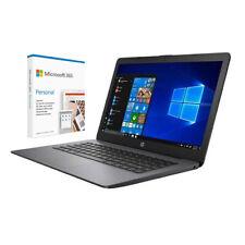 HP Stream 14 14 Laptop AMD A4 4GB Ram 32GB eMMC Brilhante Preto + Microsoft 365
