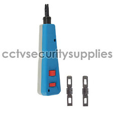Impact Punch Down Tool With Blades For RJ 66 / 110 CAT5e CAT6 Network Wire Punch
