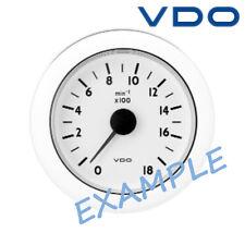 """VDO Ocean Line Tachometer Gauge Marine Boat 85mm 3"""" 6000 RPM Black N02-012-434"""