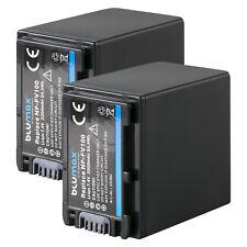 Batería 2x para Sony np-fv100   3300mah   65080   np-fv120 fv70 dcr-sx63 sx85 hdr-cx900