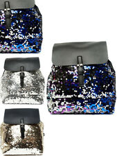 Womens Kids Backpack Sequin Rucksack Glitter Travel School College Bag Gift New
