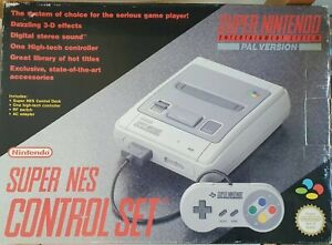 Super Nintendo SNES (PAL, Boxed, Mint)