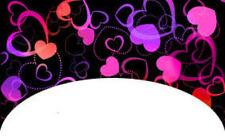 20 water slide french tip decals Valentine hearts purple black orange trending