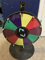"Spin to Win 16"" Color Wheel Customizable Dry Erase Spinning Prize Wheel Game"