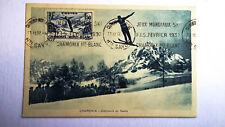 Carte maximum. Saut à skis 1937. Chamonix Mont Blanc. Krag. Monnier.