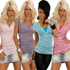 Hüftlange Damenblusen, - tops & -shirts mit V-Ausschnitt für die Freizeit