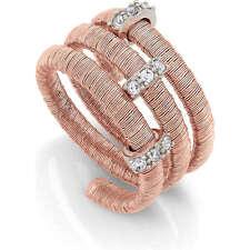 """Anello Nomination collezione """"Flair"""" in argento 925 rosato con zirconi"""