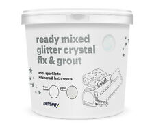 Hemway paillettes coulis Ready Mixed 4.5 kg Blanc Coulis/Blanc iridescent glitte...