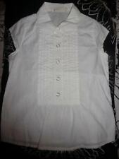 Old Navy White Short Sleeve white Blouse Top sz S, 7