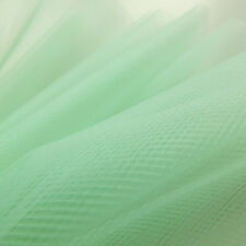 Aqua Mint Green tulle fabric 300cm wide - fine delicate net - by the metre