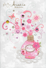 Isabels Giardino per voi la zia cartolina di compleanno, Profumo, 3d fatti a mano, qualità superiore (a2)