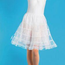 Ladies White Net Petticoat Underskirt - 1950's Rock & Roll Fancy Dress