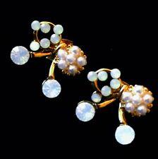 USA EARRING Rhinestone Crystal GEMSTONE Fashio unique cute gold Bowknot Pearl