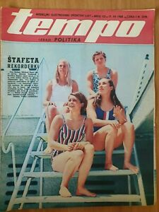 sport magazine TEMPO #125 Yugoslavia Olympic women swiming relay team 1968