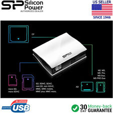 Silicon Power All-In-One Card Reader USB 2.0 CF, Micro SD SDHC, SDXC MMC, M2, MS