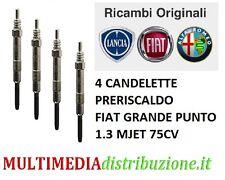 4 CANDELETTE PRERISCALDO ORIGINALI FIAT GRANDE PUNTO (199) 1.3 D MULTIJET