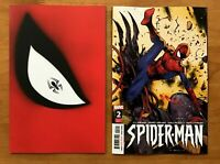 Spider-Man 1, 2 (2019) Kidd Die Cut Variant + Main Cover #2  1st App Abrams NM+
