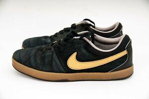 Nike Rabona Black/Gold/Gum skateboard sb Sneakers 553694-072 Brown US 8 EUR 41