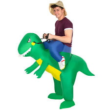 Inflatable T Rex Ride On Costume Adult Funny Dinosaur Fancy Dress Stag Party NEW