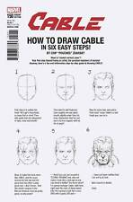 CABLE #150 (2017) 1ST PRINTING ZDARSKY HOW TO DRAW VARIANT COVER LEGACY TIE-IN