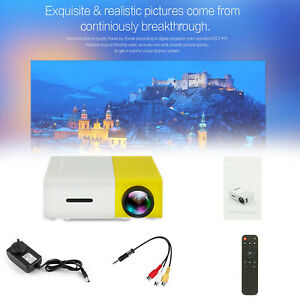 Media high resolution HDMI LCD LED Mini Home Projector 1080p Video USB AU Plug