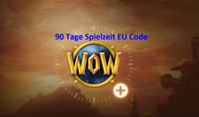 WoW World of Warcraft 90 Tage Spielzeit EU Gamecode Gamecard Gametime Classic