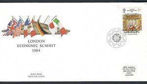 GB / UK FDC 1984 London Economic Summit Fine used