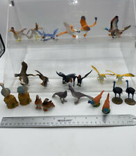 #22 Plastic Zoo Animals Birds Lot Of 24 Ostrich Roadrunner Parrot Stork Toy POS