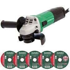 "Hitachi G12STX 240V 115mm / 4.5"" Angle Grinder With 5 x Metal Cutting Discs"