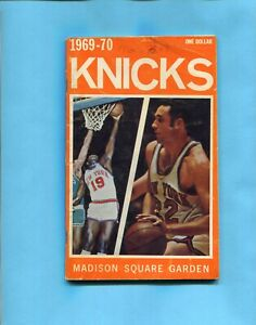 1969-70 New York Knicks NBA Media Guide Willis Reed & Dave DeBusschere on Cover