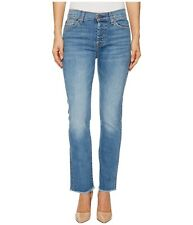 Seven 7 For All Mankind Edie High Waist Crap Straight Mom Jeans 26