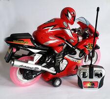 Nuevo De Radio Control Remoto Moto velocidad rápida música y luces intermitentes de rueda Reino Unido