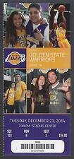 2014-2015 NBA GOLDEN STATE WARRIORS @ LA LAKERS UNUSED TICKET - KOBE - DEC 23