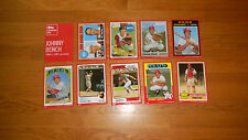 2015 Topps Johnny Bench Cardboard Icons 5x7 Red Edition Set 02/10 MINT