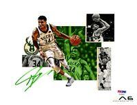 Giannis Antetokounmpo autographed signed 16x20 photo NBA Milwaukee Bucks PSA COA