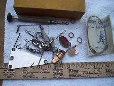 Vintage Assortment of spinners spoons hooks weights etc  from Fishing Tackle Box