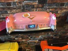 Tolle Deco Heckpartie Elvis Presley Pink Cadillac 1955 m.Licht Haifischflosse