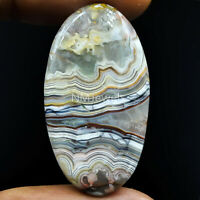 Cts. 38.10 Natural Laguna Lace Agate Cabochon Oval Cab Exclusive Loose Gemstone