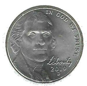 2019-D Denver Uncirculated Jefferson Nickel Five Cent Coin!