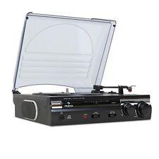 Auna 182tt Pro Home Stereo Record Player Digital USB Input Mp3 Recording System