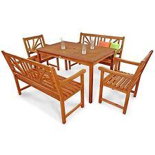 garten tische bank sets aus holz mit bis zu 6 sitzpl tzen g nstig kaufen ebay. Black Bedroom Furniture Sets. Home Design Ideas