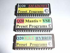 3 x Alesis Q20 Presets Eproms v.s.e. & Mantis + v.s.e + v.s.e Hybride Copyright.
