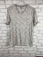 Express Size Small Jersey V-neck Tshirt Light Heather Gray